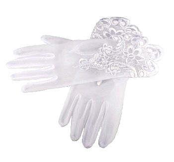 White First Holy Communion Gloves
