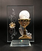 Glass First Holy Communion Plaque